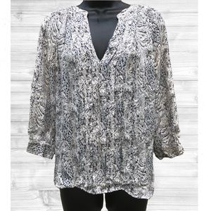 Joie | Silk Animal Print Oversized Blouse | Small